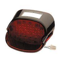 Black/red Laydown Lay Led Taillight Brake Light Harley Fxd Super Glide 1999-2013