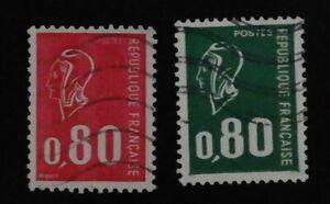 Timbre poste. France. n°1891. & 1892. Marianne de Béquet.
