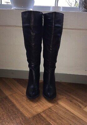 Find Lange Læder Støvler på DBA køb og salg af nyt og brugt