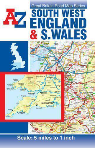 A-Z Sud West Angleterre & Galles Route Carte (Atlas Routier) Par Géographes