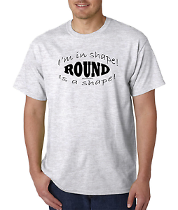 Unique-T-shirt-Gildan-I-039-m-In-Shape-Round-Is-A-Shape-Weight-Exercise