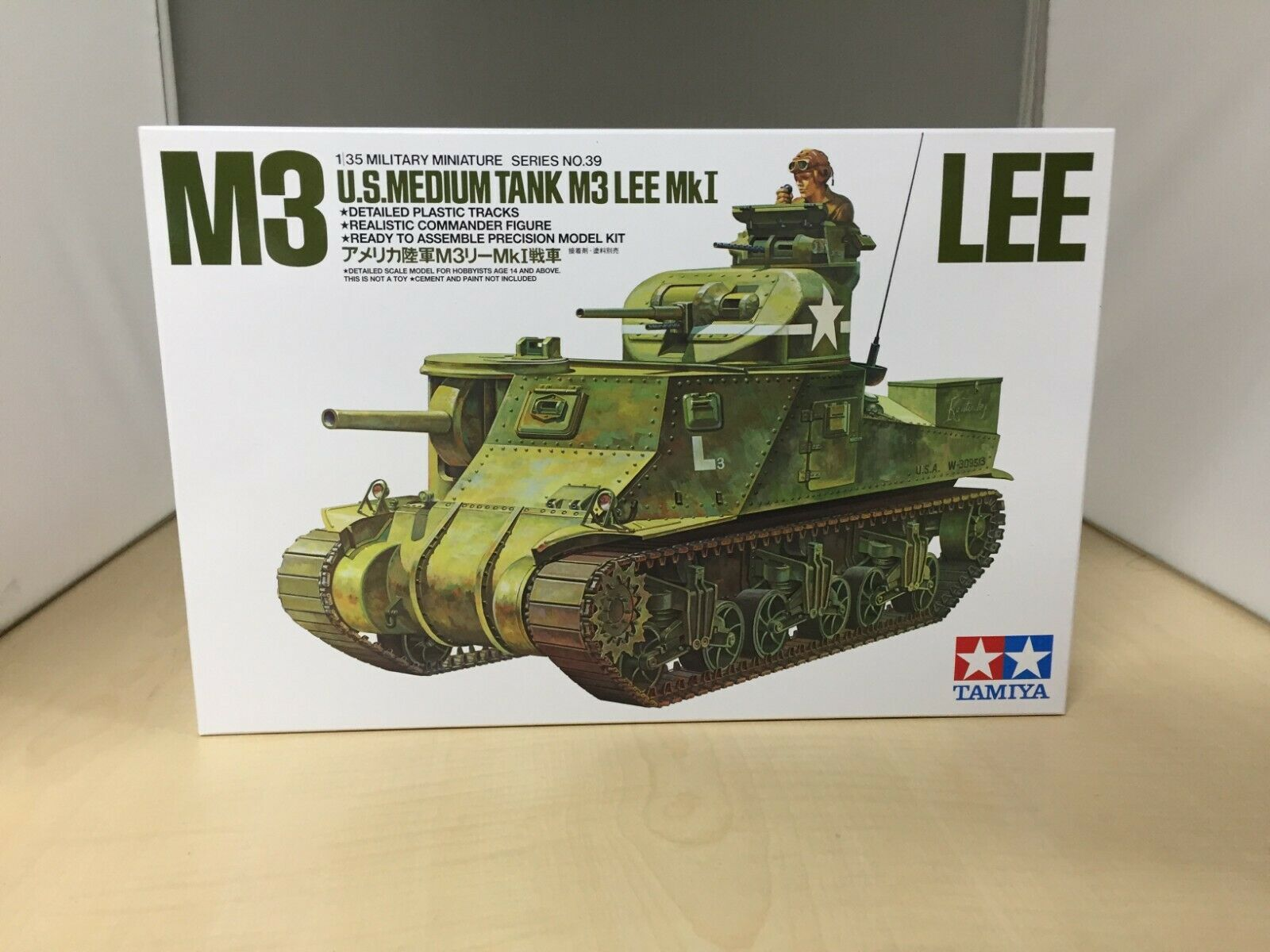 Tamiya 1 35 Military Miniature Series No.39 US Army M3 Lee Mk.1 Tank