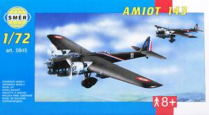 Amiot 143 WW2 French Bomber 1//72 model kit, Smer 0845