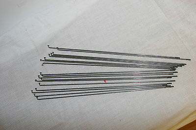10PCS 14G Bike Bicycle Spokes Nipples 253~290mm Stainless Steel Spoke Sliver MF