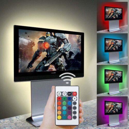 1//2//4//5x TV Back Light 5V USB  Safe 30-300 LED RGB Color Changing 5050 LED Strip