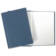 Manuscript Book A4 Blue Cover 192 page/96 Leaf Lined Hardback Notepad Notebook