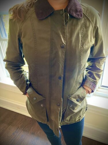 barbour waxed jacket womens