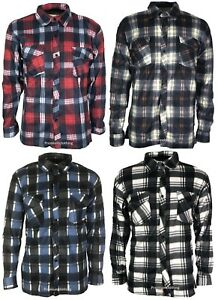 Mens-Flannel-Lumberjack-Casual-Check-Shirt-Brush-Cotton-Work-Long-Sleeve-s-3xl