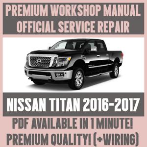 workshop manual service repair guide for nissan titan 2016 2017 rh ebay co uk nissan titan repair manual download nissan titan parts manual