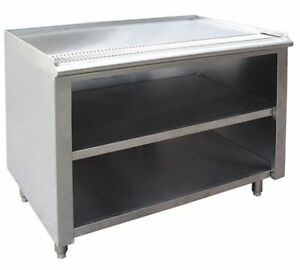Stainless Steel Tea Urn Cabinet X Lip Up Drain Outlet - Stainless steel table with lip