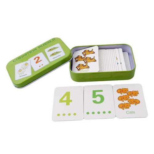 Baby Educational Matching Cards Puzzles Game Preschool Educational Toy for Child
