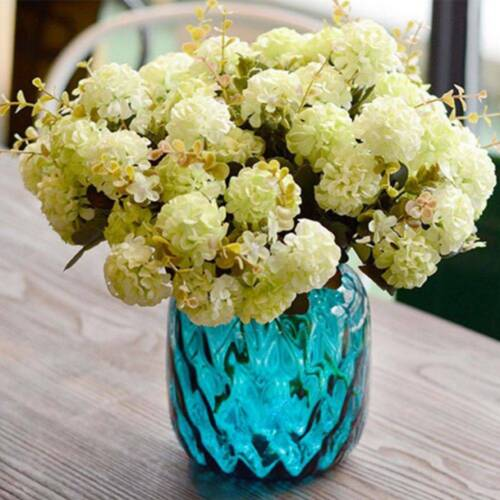 Silk Artificial Hydrangea Gerbera Flowers Decor Bouquet Wedding Home Decor