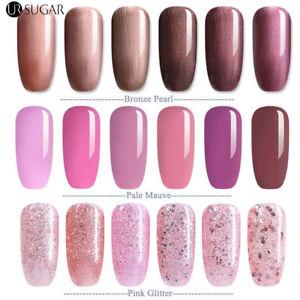 7-5ML-Nail-Art-Semi-Permanent-Vernis-a-ongles-UV-Gel-Polish-Rose-en-Bronze-Pearl