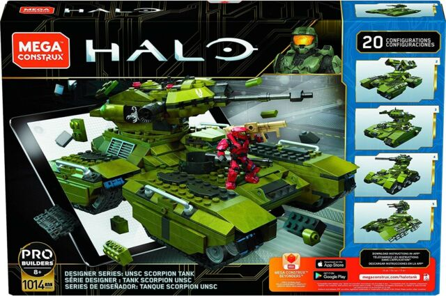 HALO DESIGNER SERIES UNSC Scorpion Tank (GGG61) 1014 pcs MEGA CONSTRUX RARE LQQK