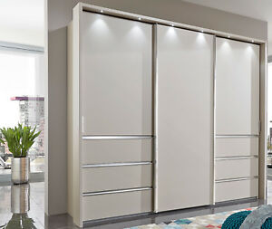 wiemann malibu kleiderschrank mit schubladen schwebet renschrank variabel ebay. Black Bedroom Furniture Sets. Home Design Ideas