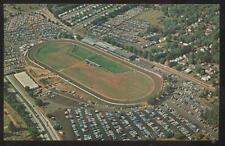 Postcard FREEHOLD RACEWAY NJ  Horse Race Track Bird's Eye Aerial view 1950's