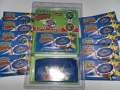 10 Tüten Chipz Pokemon Chipz Starterkid OVP
