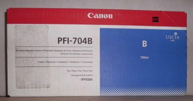 Original Canon PFI-704B Tinte blau  ImagePROGRAF iPF8300  3869B005AA Karton C