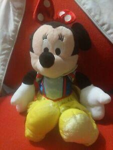 Disney-Minnie-Mouse-Vestido-como-Clasico-Nieve-Blanco-Suave-Juguete-Peluche-en-muy-buena-condicion