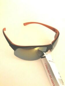 Men-039-s-Sport-Rimless-Black-Orange-UV-400-Distortion-Free-Lenses-NEW