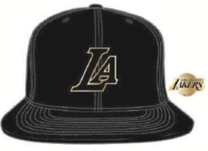Los Angeles Lakers Gold La Logo Nba Basketball Mitchell Ness Snapback Black Hat Ebay