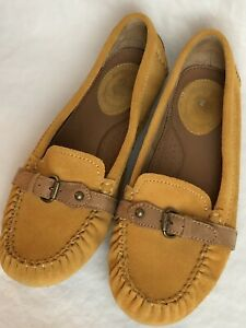 Ariat-Women-039-s-Size-7-5-Tan-Suede-Leather-Driving-Moccasin-Loafer-Slip-On-EUC