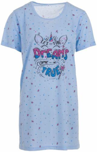 Romesa Schlafshirt Big Shirt Teen Nachthemd Einhorn große Größen XL XXL 3XL