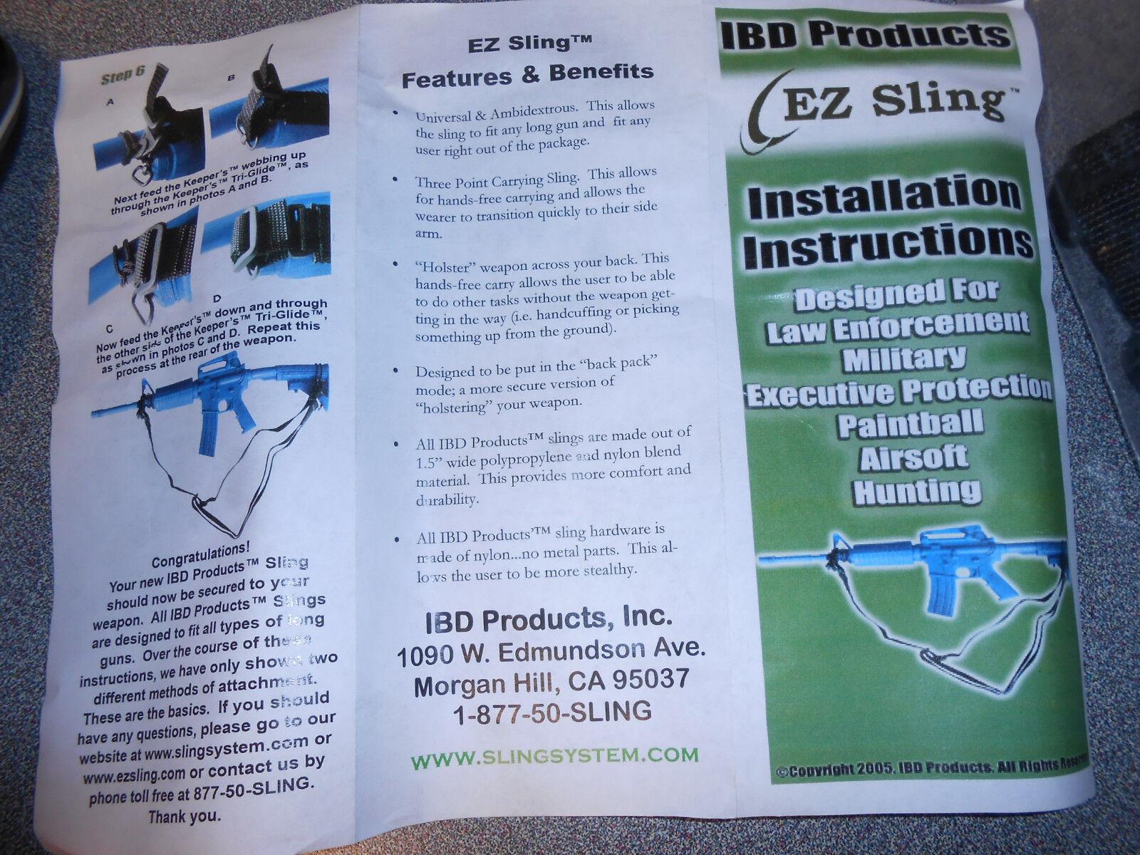 Lot of 10 IBD E-Z Universal Rifle Rifle Universal Shoulder Sling System Hunting fb4407