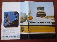 BROCHURE PUB AIR ANGLIA FOKKER F27 G-BAUR NORWICH AMSTERDAM KLM