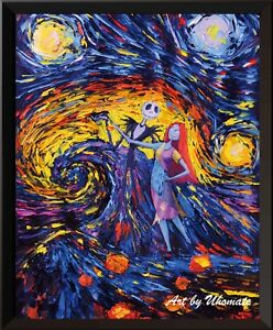 Jack-Sally-Jack-and-Sally-Nightmare-Before-Christmas-Van-Gogh-Starry-Night-A005
