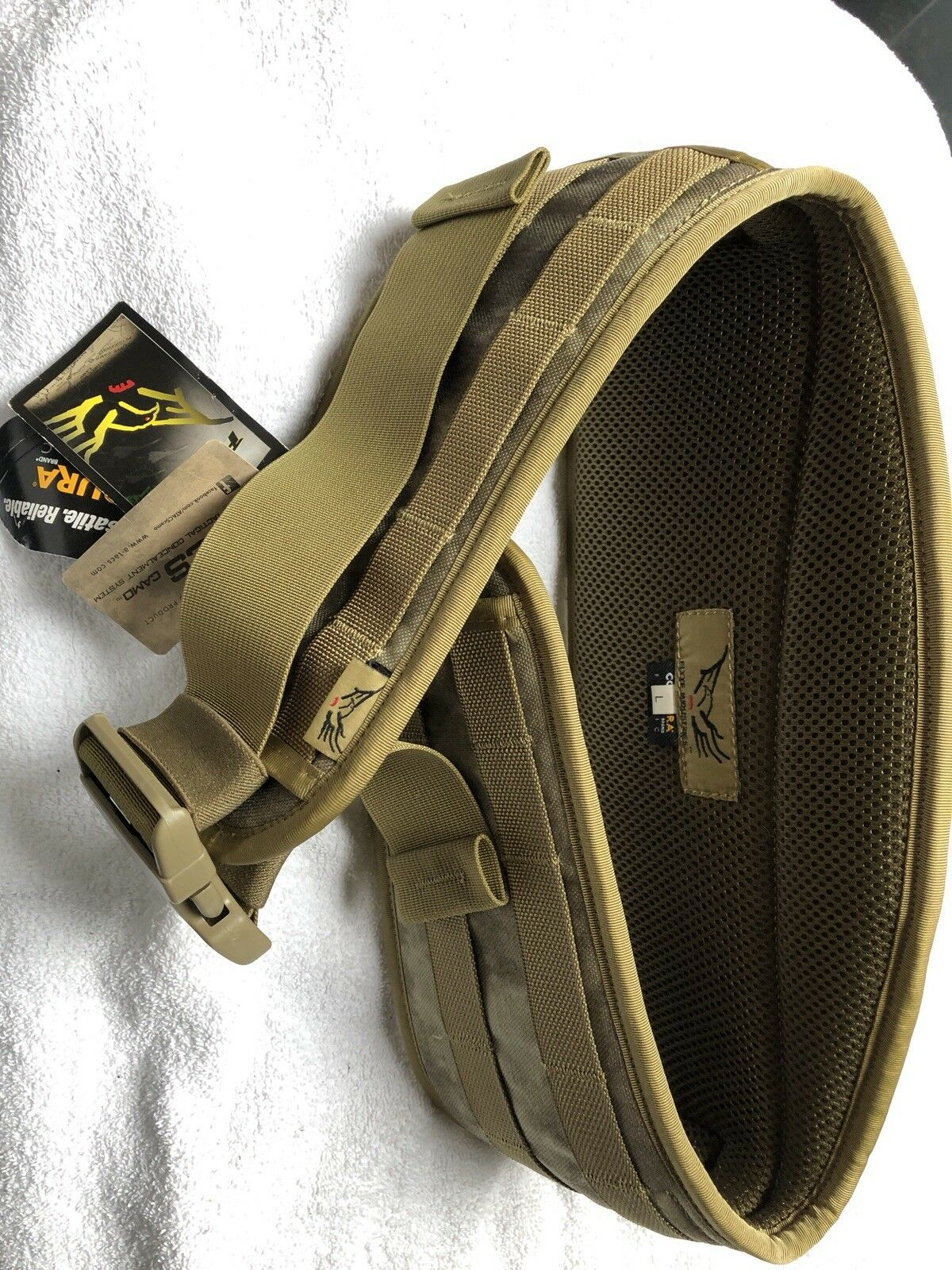 AIRSOFT HUNTING PAINTBALL FLYYE INDUSTRIES CONDURA BELT LARGE MULTICAM