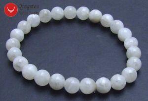 8mm-White-Round-Natural-High-Quality-7-5-039-039-Gemstone-Moonstone-Bracelet-for-Women