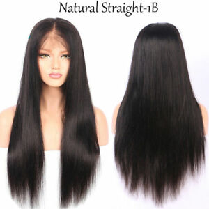 UK Preplucked Indian Remi Human Hair Wigs straight 360 Full Lace ... 95b4327c13