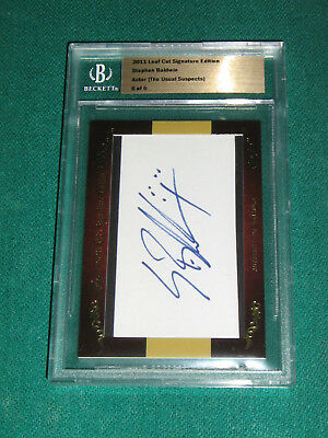 Adroit Stephen Baldwin Movies Entertainment Memorabilia 2011 Leaf Cut Signature Edition Autograph #6/6 Keep You Fit All The Time