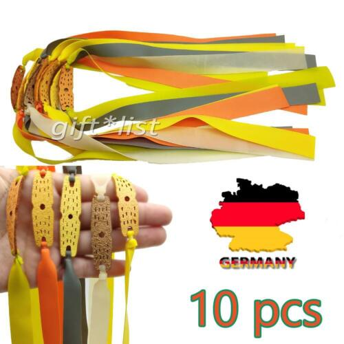 10er Ersatzgummi flach Steinschleuder Sportschleuder Slingshot Elastic Band DE