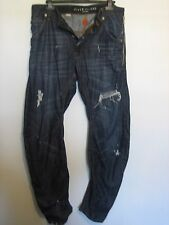 PP32) MENS DISTRESSED CARROT RIVER ISLAND JEANS BUTTON FLY  WAIST 32 LEG 32