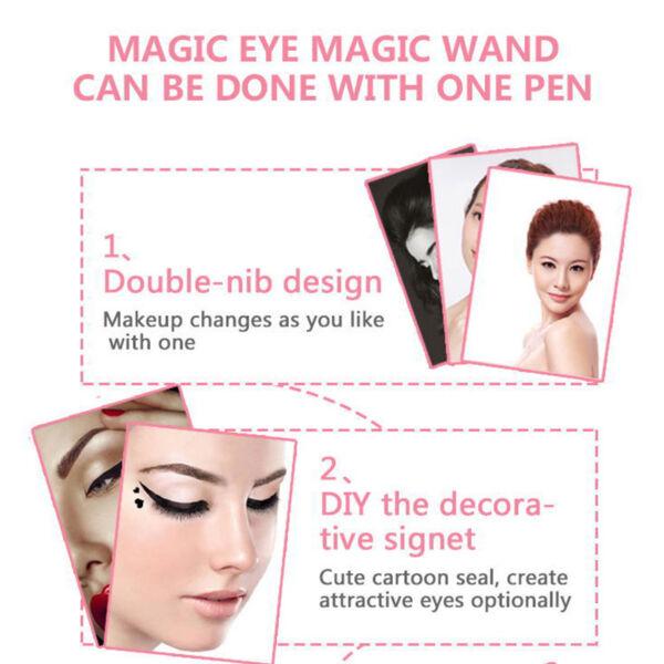 Double Head Waterproof Liquid Eyeliner Tattoo Stamp Liner Pencil Makeup Trendy W