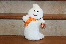NEW TY RARE AND RETIRED BEANIE BUDDIES SPOOKY THE HALLOWEEN GHOST BUDDY MWMT