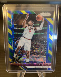 2018-19-Panini-Prizm-Jr-Smith-Choice-Blue-Yellow-Green-180-Cavs-NBA-Champion