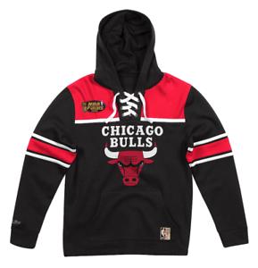 d77208aa37d6b NEW Black   Red Chicago Bulls Mitchell   Ness NBA Sweatshirt Fleece ...