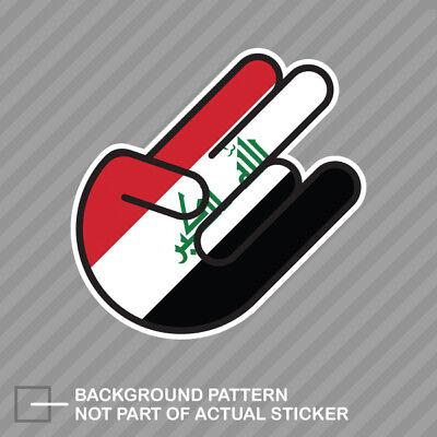 IRQ Iraq Country Code Oval Sticker Decal Vinyl Iraqi euro