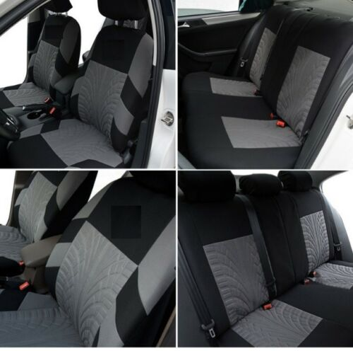 9 PCS FULL SET GREY FABRIC CAR SEAT COVERS FOR NISSAN JUKE PRIMERA ALMERA