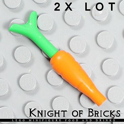 LEGO - Green Minifig Food /& Drink Apple X2