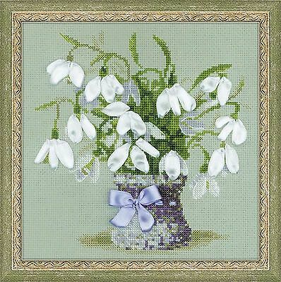 RIOLIS  1403  SNOWDROPS  COUNTED  CROSS STITCH  KIT