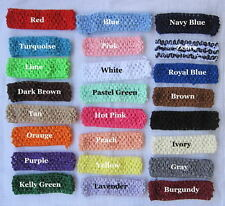 You pick- 1 Crochet Baby Hair Headband Multicolor Lot clip knit girl stretchy