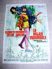 TAMING OF THE SHREW Original Movie Poster ELIZABETH TAYLOR RICHARD BURTON