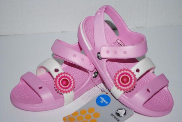 Sandal Crocs Toddler Keeley 8 Sandals Shoes White Girls Carnation Pink ULpGqjVSzM
