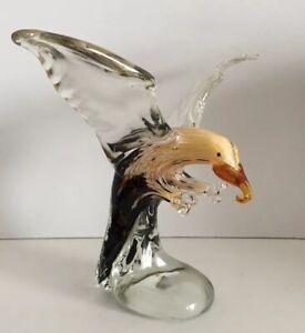 Handmade Eagle Art Glass Blown Animal Bird Figurine