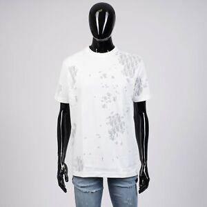 DIOR-HOMME-690-White-Tshirt-With-Cut-amp-Sew-Shinethrough-Oblique-Logo