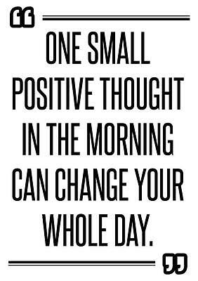 Motivational gym poster print ONE SMALL POSITIVE THOUGHT CAN CHANGE YOUR  DAY | eBay
